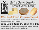 Brick Farm Market - Washed Rind Cheese Event June 13, 2019